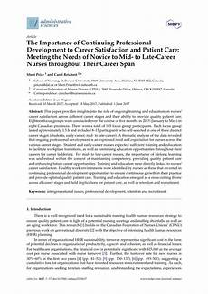 Career Development Articles Pdf The Importance Of Continuing Professional