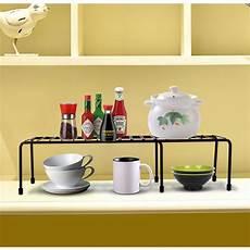 expandable kitchen counter cabinet shelf organizer rack