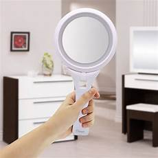 Hand Mirror With Lights Ovonni Hand Held Led Lighted Makeup Mirror Double Side