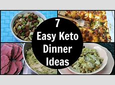 7 Easy Keto Dinner Ideas   Low Carb Dinner Recipes   YouTube