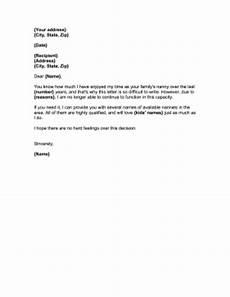 Nanny Resignation Letter Nanny Resignation Letter
