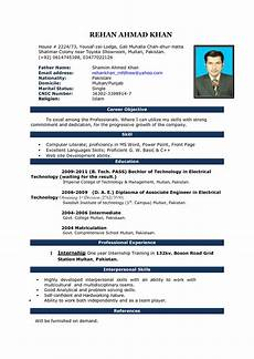 Curriculum Vitae Word Template Cv Word Document Format