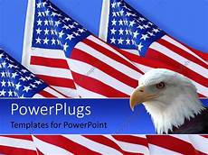 Patriotic Template Powerpoint Template American Eagle With Three American