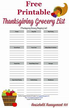 Help Me Make A Grocery List Printable Thanksgiving Grocery List Amp Shopping List