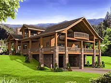 mountain house plan with wrap around porch 35544gh