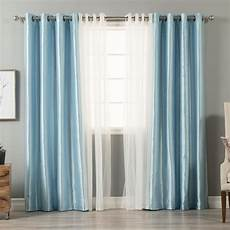 Blackout Design Best Home Fashion 84 In L Umixm Tulle And Sky Blue Faux