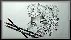 Pencil Art Drawings Cool Pencil Drawing A Beautiful Face Picture Easy Youtube