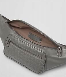 Light Gray Belt Bottega Veneta New Light Grey Light Calf Belt Bag In Gray