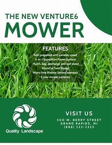 Lawn Mower Flyers Lawn Mower About Us Flyer Template Mycreativeshop