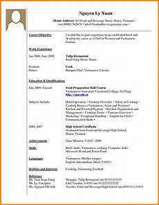 Cv Template For Work Experience How To Make A Cv For Work Experience Resume Format With