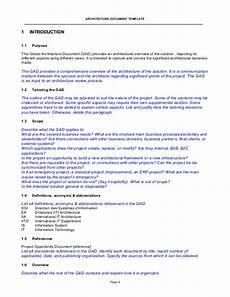 Application Design Document Sample Architecture Document Template