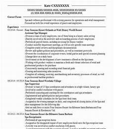 Spa Resume Sample Spa Director Resume Example Addictips
