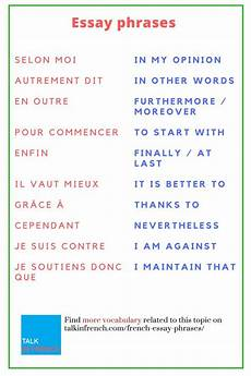 Essay Phrases 30 Useful French Essay Phrases Learn French French