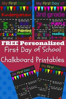 First Day Of Preschool Template A Happy Frugal Life Free Printable 1st Day Of School Signs