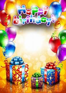 Birthday Cards Design Free Downloads Set Of Happy Birthday Postcards Design Elements Vector 02