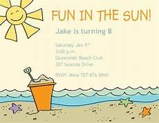 Beach Party Invitation Wording Charming Beach Party Invitation Design Idea With Breach