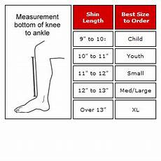 Soccer Shin Guard Size Chart White Cloth Shin Pads Protectors