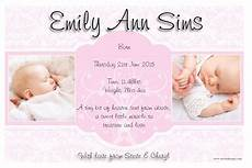 New Baby Announcement Cards Baby Girl Birth Announcements Quotes Quotesgram