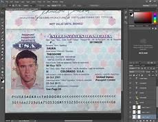 Us Passport Photo Template Usa Passport Psd Template United States Passport