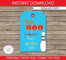 Party Favor Tag Bowling Party Favor Tags Thank You Tags Birthday Party
