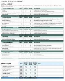 Proposal Comparison Spreadsheet Template Vendor Evaluation Scorecard Template Supplier Free