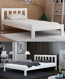details about white wooden bed frame 4ft small