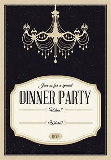 Dinner Invites Templates Free Classy Chandelier Free Printable Dinner Party Invitation