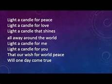 Light A Candle For Peace Montessori Sing Peace Around The World With Lyrics Youtube