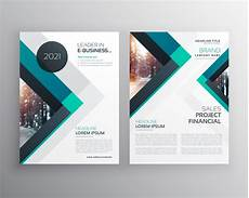 Flyer Formate Abstract Blue Business Brochure Flyer Design Template With