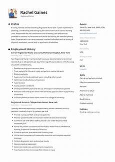 Sample Resumes For Nursing Registered Nurse Resume Sample Amp Writing Guide 12