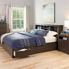 king size bed platform storage bed w 6 drawer