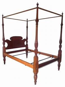 19th century reproduction of colonial 4 poster bed on