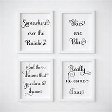 somewhere the rainbow skies are blue set of 3 neutral
