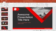 Red Powerpoint Animated Red Ribbon Powerpoint Template