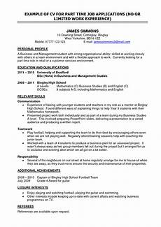 Resume For Part Time Job Student Part Time Work On Resume The Best Expert S Estimate