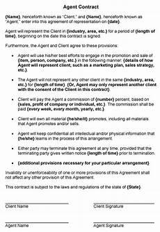 Agent Contract Sample Agent Contract Sample
