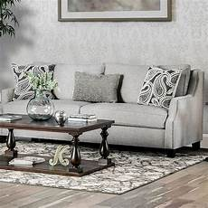 Nailhead Trim Sofa 3d Image by Chantal Contemporary Grey Fabric Sloped Arms Sofa With