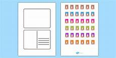 post card template twinkl free blank postcard templates postcard writing template