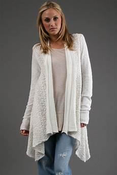 free crochet cardigan in white in white lyst