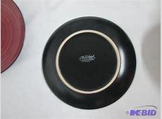 McLeland 16pc. Two Tone Dinnerware Set   Wine/Black