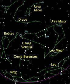 Spring Constellations In The Northern Hemisphere With Star