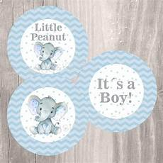 blue elephant baby shower printable centerpieces instant