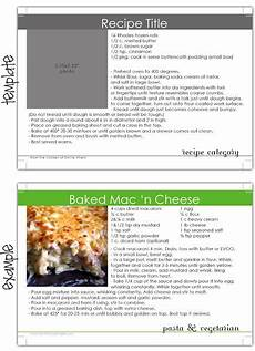 Online Recipe Book Creator Recipe Card Template Room For Writing And A Small Photo