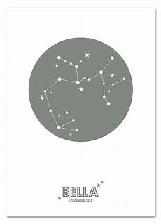 Star Constellation Designs Personalised Star Sign Zodiac Constellation Print By