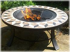 Round table Fire pit: Braziers, fire baskets copper