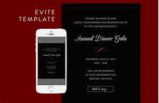 Free Evite Templates Formal Dinner Evite Psd Template Email Templates