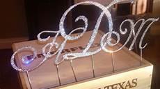 diy swarovski monogrammed cake topper weddingbee photo