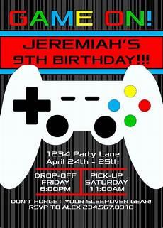 Birthday Invitations For Boy Boys Night Sleepover Invitation 3 Editable Partygamesplus