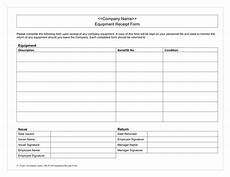 equipment receipt form template equipment receipt form in word and pdf formats