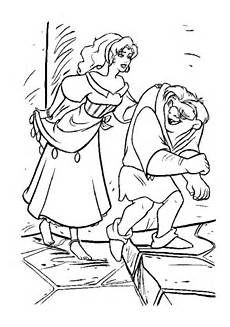 Quasimodo Malvorlagen Kita Quasimodo And Esmeralda Coloring Page Free Printable